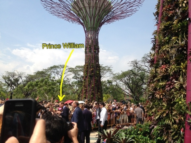Prince william at Gardens by the bay