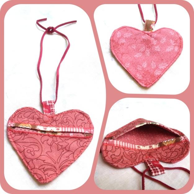 Handmade Valentine Heart earpiece pouch