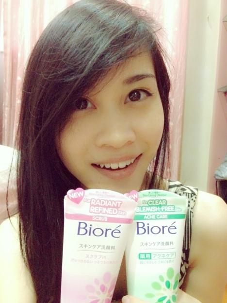 Biore skin caring facial wash