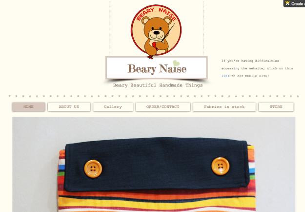 Beary Naise handmade store