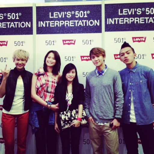 Levi's 501 interpretation fashion event, Yahui, Felicia chin, Ian Fang, Tosh zhang