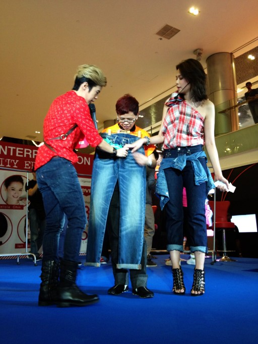 Levi's 501 Interpretation Fashion event at Ion Orchard Felicia Chin