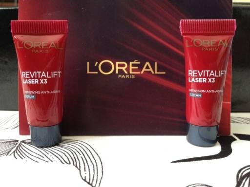 Loreal revitalift renewing anti-aging serum and cream