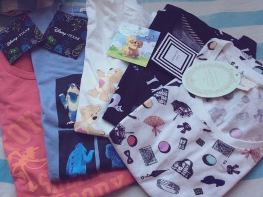 Uniqlo Tshirt shopping loot