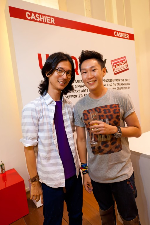 Clarence Lee & Keith Png at Uniqlo UT POPUP event Singapore