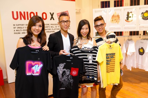 GillianZheng MichaelTan ShareenWong TimOh Power98 DJs Uniqlo UT POPUP event Singapore