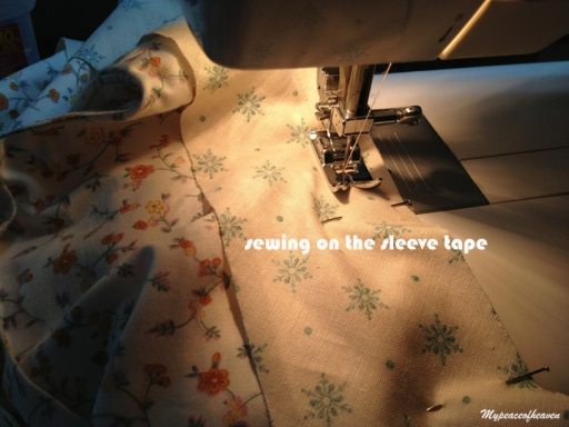 sewing on sleeves on blouse
