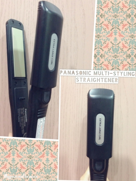 panasonic multi-styling straightener hair curling blogpost
