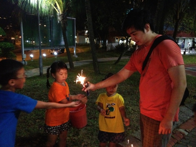 sparklers birthday celebration