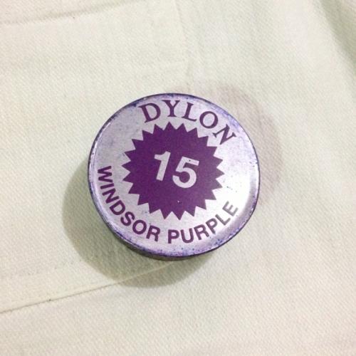 dylon fabric dye purple DIY ombre shorts