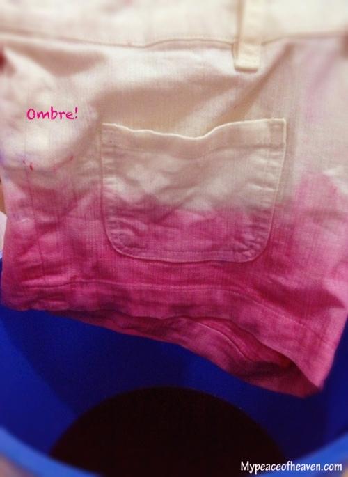 DIY ombre shorts Singapore Craft / DIY Blog