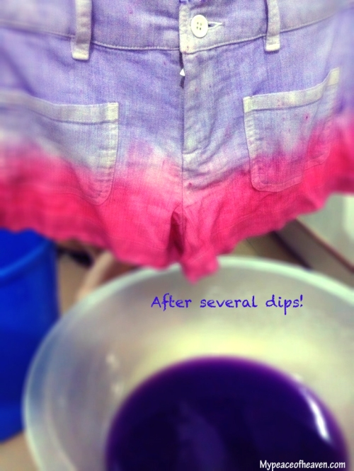 4) Prepare purple fabric dye like above.