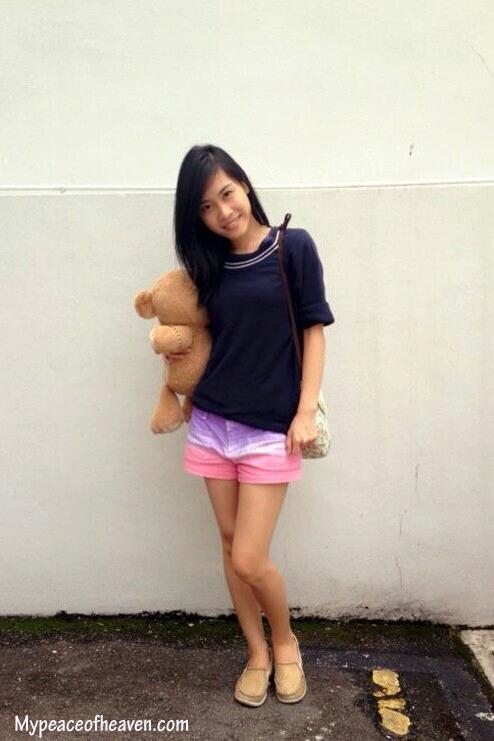 DIY ombre dyed shorts. Singapore Craft/DIY Blog