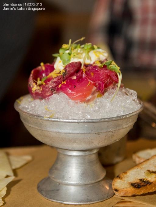 [Food] Jamie's Italian Singapore Beetroot cured Salmon