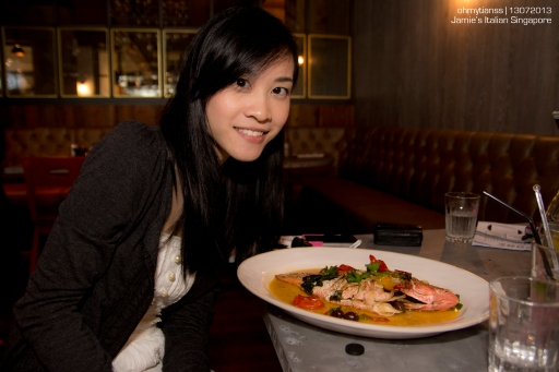 [Food] Jamie's Italian Singapore Gennaro Contaldo Pink Snapper Acqua Pazza
