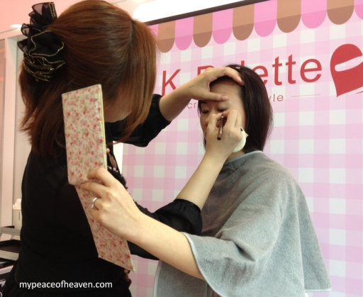 K-Palette Make Up Demonstration Sasa Singapore