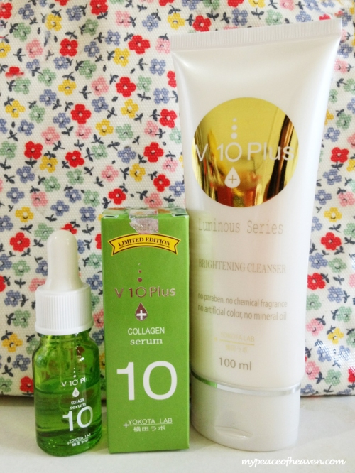 [Review] V 10 Plus Collagen Serum & Luminous Series Brightening Cleanser