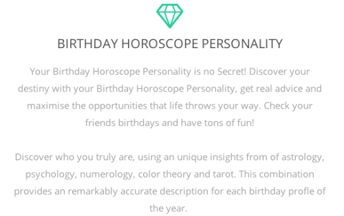 Birthday personality tumblr