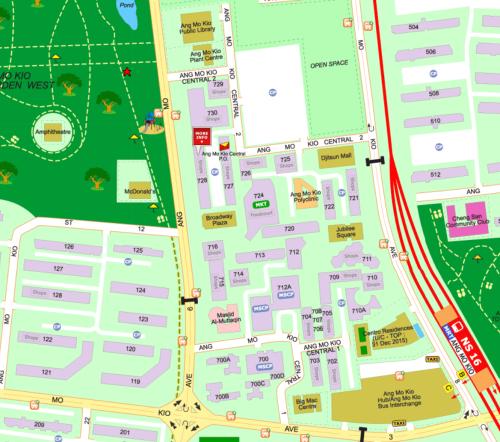 Streetdirectory map Mordecai Ang Mo Kio