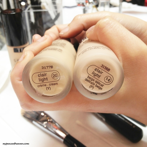 Sephora Foundation in Clair Light 14 and Clair Light 20